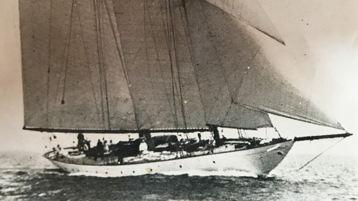 Historical yacht in her early days by PHOTOGRAPHER UKNOWN 16 9